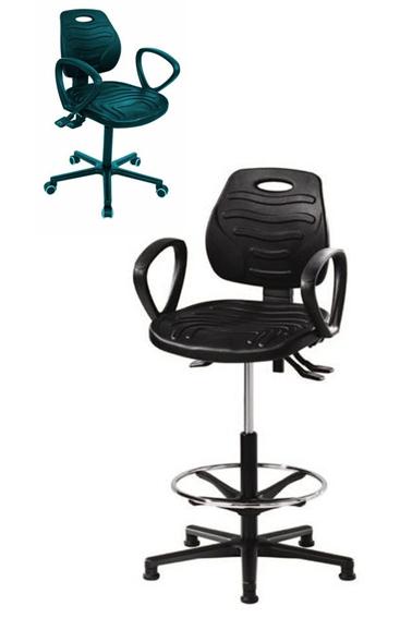 arbeitstuhl mit pu schaum schwarz arbeitsst hle mit integralschaum industriest hle. Black Bedroom Furniture Sets. Home Design Ideas