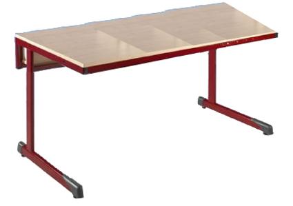 Tisch schule  Computertische Ovalrohr mit Kabelkanal, Computerraumtische ...
