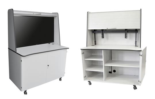 displayschrank f r flachbildschirme displayschrank f r flat screens mobiler schrank f r. Black Bedroom Furniture Sets. Home Design Ideas