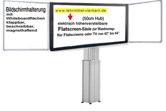 Höhenverstellbare Wandhalterung Tv : h henverstellbare flatscreenhalterung mit whiteboard bildschirmhalterung f r 84 zoll ~ Whattoseeinmadrid.com Haus und Dekorationen