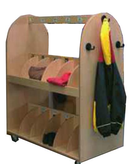 Pin zu garderobe schuhschrank kleiderstange flur aida for Garderobenwagen holz