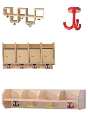 garderoben sitzbank hakenleisten f r kindergarten. Black Bedroom Furniture Sets. Home Design Ideas