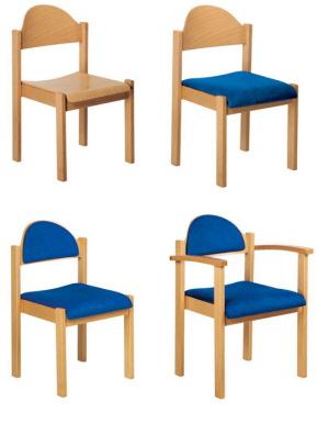 massivholzst hle mit rechteckstollen holzst hle kaufen. Black Bedroom Furniture Sets. Home Design Ideas