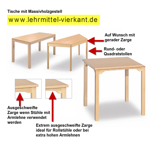 tisch kiga 60 x 120 cm tische holztische kindergartentische lehrerzimmertische schultische. Black Bedroom Furniture Sets. Home Design Ideas
