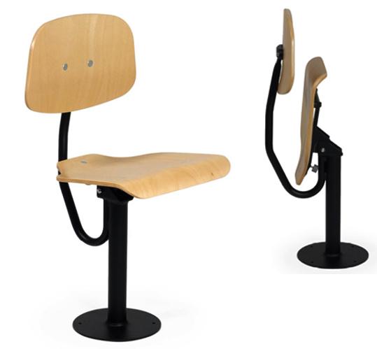 arbeitsstuhl zur bodenbefestigung arbeitst hle f r die werkstatt werkstattstuhl mit. Black Bedroom Furniture Sets. Home Design Ideas