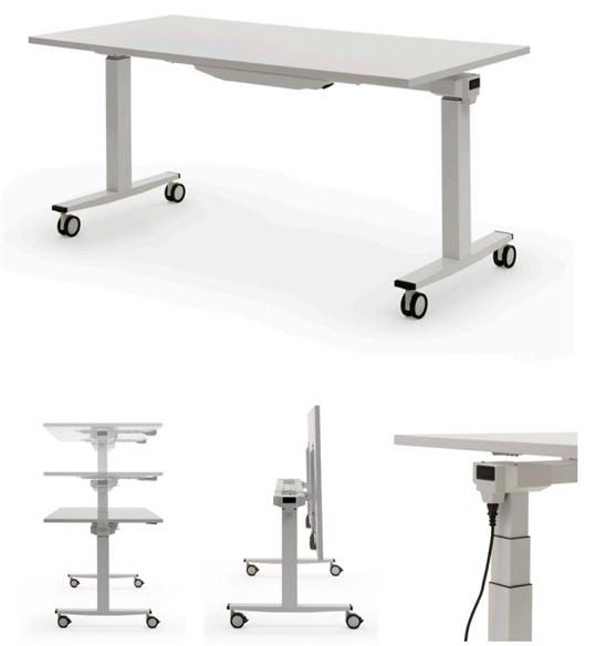 falttisch elektrisch h henverstellbarer arbeitstisch klapptisch auf rollen h henverstellbar. Black Bedroom Furniture Sets. Home Design Ideas