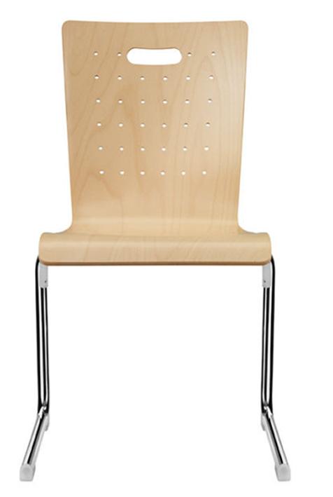 holzschalenstuhl mit c gestell freischwinger stapelst hle sitzschalenst hle hallenst hle. Black Bedroom Furniture Sets. Home Design Ideas