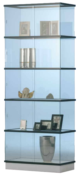 glasvitrine glasvitrinen zerlegbar rechteckige vitrinen glasvitrine kaufen vitrine f r b ro. Black Bedroom Furniture Sets. Home Design Ideas