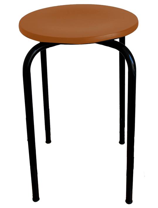 stapelhocker sitzh he 46 cm hocker stahlrohrhocker vierbeinhocker werkraumhocker. Black Bedroom Furniture Sets. Home Design Ideas