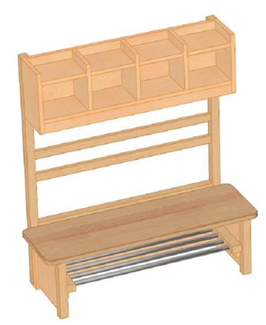 garderobe mit sitzbank und haken garderoben f r kindergarten garderoben mit hakenleisten und. Black Bedroom Furniture Sets. Home Design Ideas