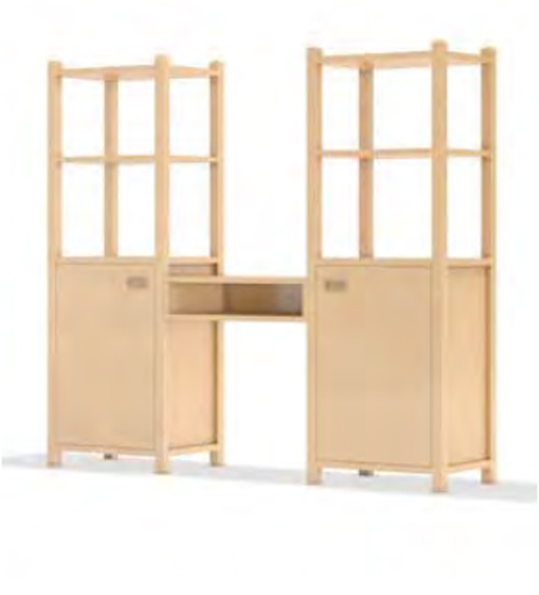 regalsystem mit schreibtisch f r kindergarten regale f r kindergarten regalsystem kindergarten. Black Bedroom Furniture Sets. Home Design Ideas