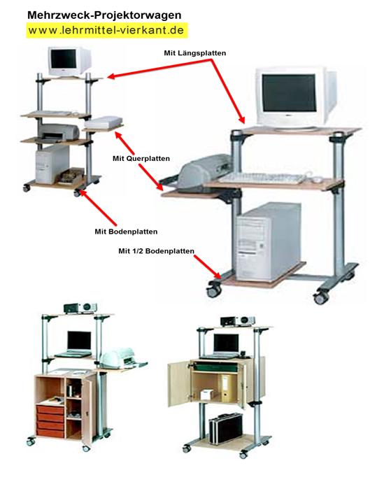 Projektorwagen projekorwagen computerwagen for Mobel computertisch
