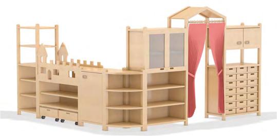 kindergartenm bel regalsystem spielburg regale f r kindergarten spielburgen. Black Bedroom Furniture Sets. Home Design Ideas