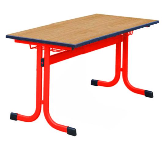 Schultisch maße  Schülerdoppeltisch Typ L-Kufe Ovalrohrtisch, Schülertische ...