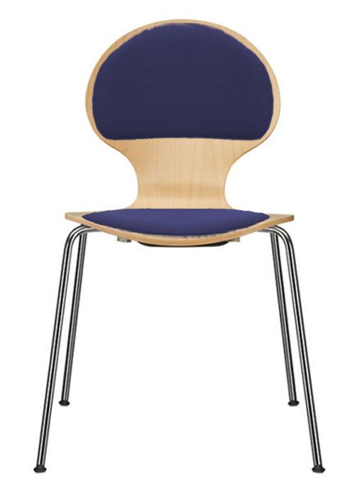 Stuhl mit spinnengestell stapelst hle sitzschalenst hle for Stuhl gepolstert