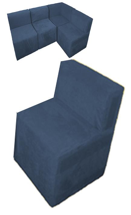 Sessel sitzecke sitzkombination aus kunstleder leseecke for Xxl sessel blau