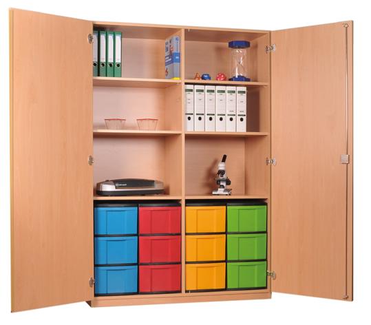 Materialschrank mit Modulboxen, Eigentumsschränke für Schulen ...