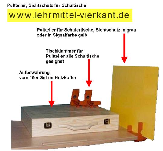Tisch schule  Tischblenden, Sichtschutz für Tische, Pultteiler, Sichtschutz bei ...