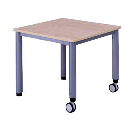 tisch fahrbar quadrattisch txb 80x80 cm mobile tische tische mit rollen fahrbare tische. Black Bedroom Furniture Sets. Home Design Ideas