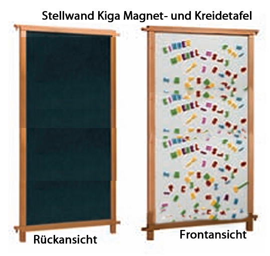 raumteiler mit kreidetafel und magnettafel kindergartenm bel raumteiler raumteiler f r. Black Bedroom Furniture Sets. Home Design Ideas