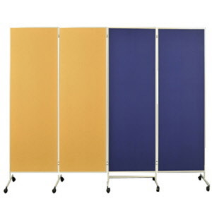 raumteiler aus textil raumaufteilung duch textilwand sichtschutzwand auf rollen raumteiler. Black Bedroom Furniture Sets. Home Design Ideas