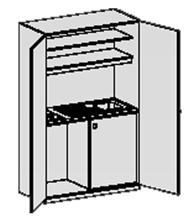 Schrankueche und Waschbecken-Garderobe | {Schrankküche büro 96}