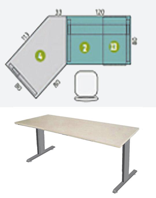 Arbeitstisch c fu h henverstellbar arbeitstisch for Schreibtisch 45 grad