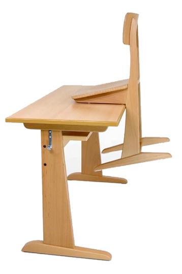 Schulm bel aus massivholz sch lertisch sch lerstuhl for Schulstuhl holz