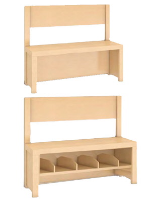 garderobensitzbank mit r ckenlehne garderobensitzbank f r. Black Bedroom Furniture Sets. Home Design Ideas