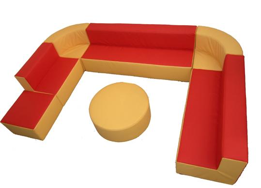 sitzecke sessel sitzkombination aus kunstleder leseecke kuschelecke kunstlederelemente. Black Bedroom Furniture Sets. Home Design Ideas