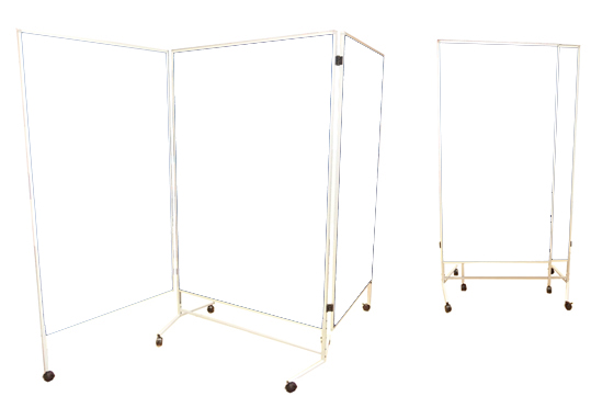 stellwand trio stellw nde mit 2x fl gel moderationsw nde. Black Bedroom Furniture Sets. Home Design Ideas