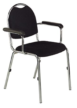 Stuhl adelon mit armlehne schwarz gestell verchromt for Stuhl mit armlehne schwarz