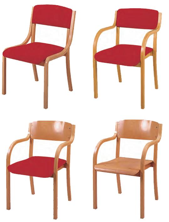 holzstuhl jan sitz und r cken gepolstert mit armlehne. Black Bedroom Furniture Sets. Home Design Ideas