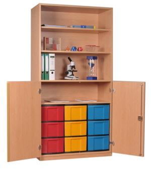 materialschrank mit modulboxen eigentumsschr nke f r. Black Bedroom Furniture Sets. Home Design Ideas