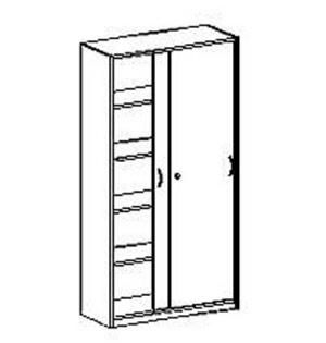 schrank 190 cm mit schiebet ren. Black Bedroom Furniture Sets. Home Design Ideas
