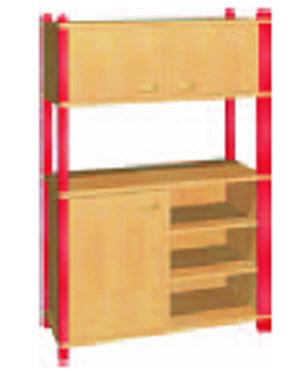 stollenregale f r kindergarten hort schule holzstollenregale regale regalschrank. Black Bedroom Furniture Sets. Home Design Ideas