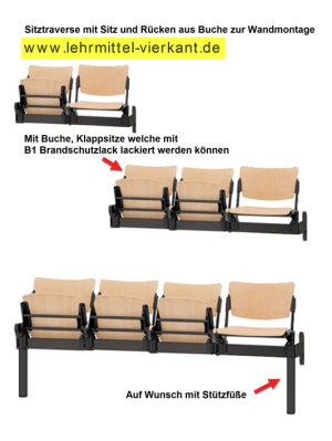 traversenb nke buche sitz klappbar ungepolstert sitztraversen sitzbank traversenb nke. Black Bedroom Furniture Sets. Home Design Ideas