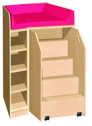 wickelkommode mit treppe f r kinderkrippen wickeltische mit treppe wickeltisch kindergarten. Black Bedroom Furniture Sets. Home Design Ideas