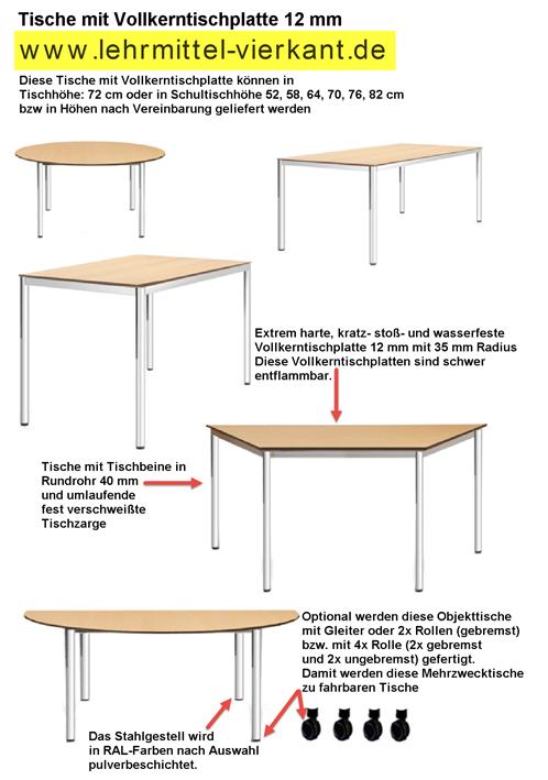 tische mit vollkerntischplatte schwer entflammbare tische. Black Bedroom Furniture Sets. Home Design Ideas