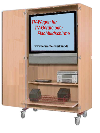 tv wagen fernsehwagen display wagne monitorwagen. Black Bedroom Furniture Sets. Home Design Ideas