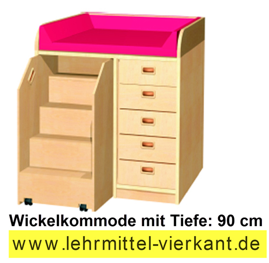 kindergarteneinrichtung wickelkommoden mit 90c m tiefe. Black Bedroom Furniture Sets. Home Design Ideas