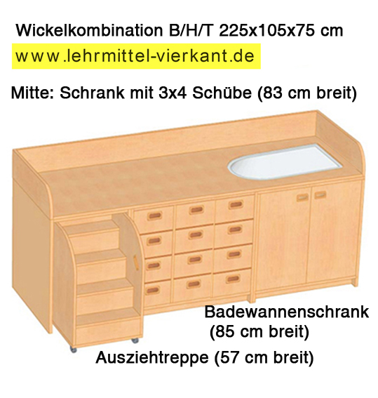 wickelkommode mit wanne und treppe wickelkommode mit babywanne wickelkombinationen. Black Bedroom Furniture Sets. Home Design Ideas