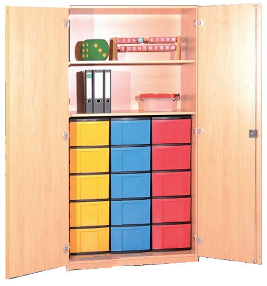 kunststoffboxenschrank eigentumschrank materialschr nke mit kunststoffboxen klassenschr nke. Black Bedroom Furniture Sets. Home Design Ideas