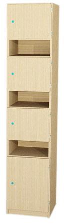 lehrerfachschrank 3 abschlie bare f cher 3 offene brieff cher 1t r 1 boden 190x42x40 cm. Black Bedroom Furniture Sets. Home Design Ideas